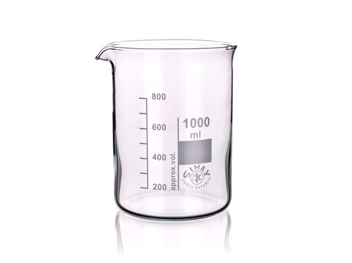 Bekerglas 2000 ml, laag model, Simax