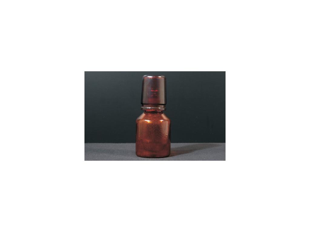 Zuurfles amber met dop 250ml