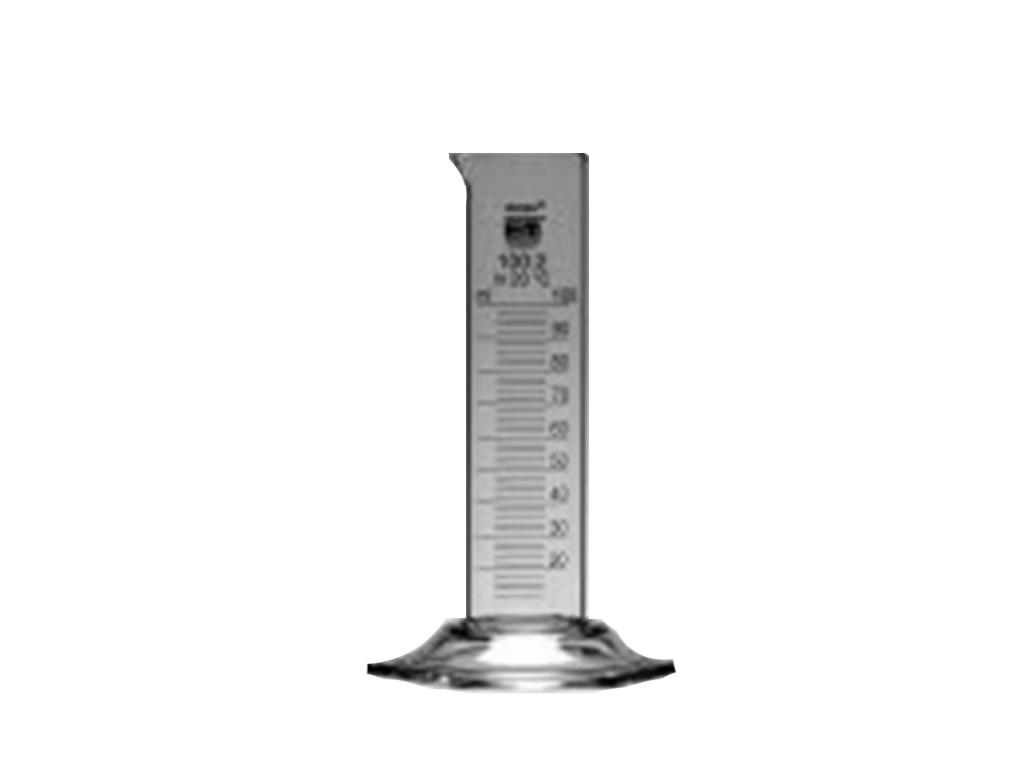 Maatcilinder glas, laag model, 1000 ml