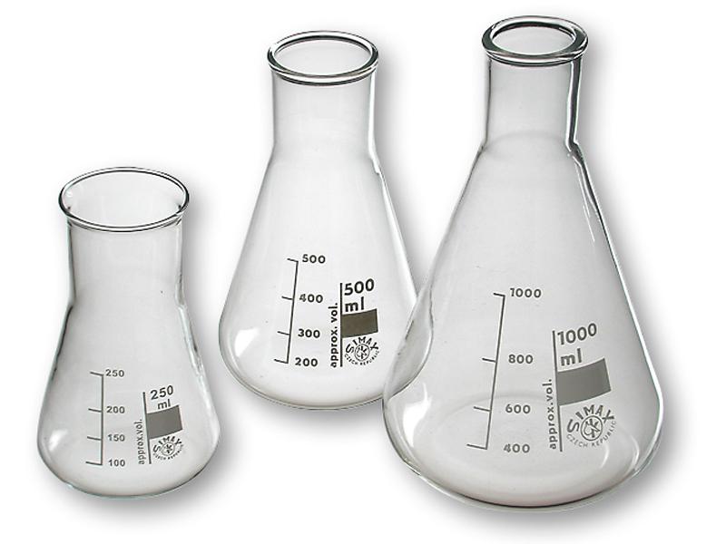 Erlenmeyerkolf glas, 200 ml, wijdhals