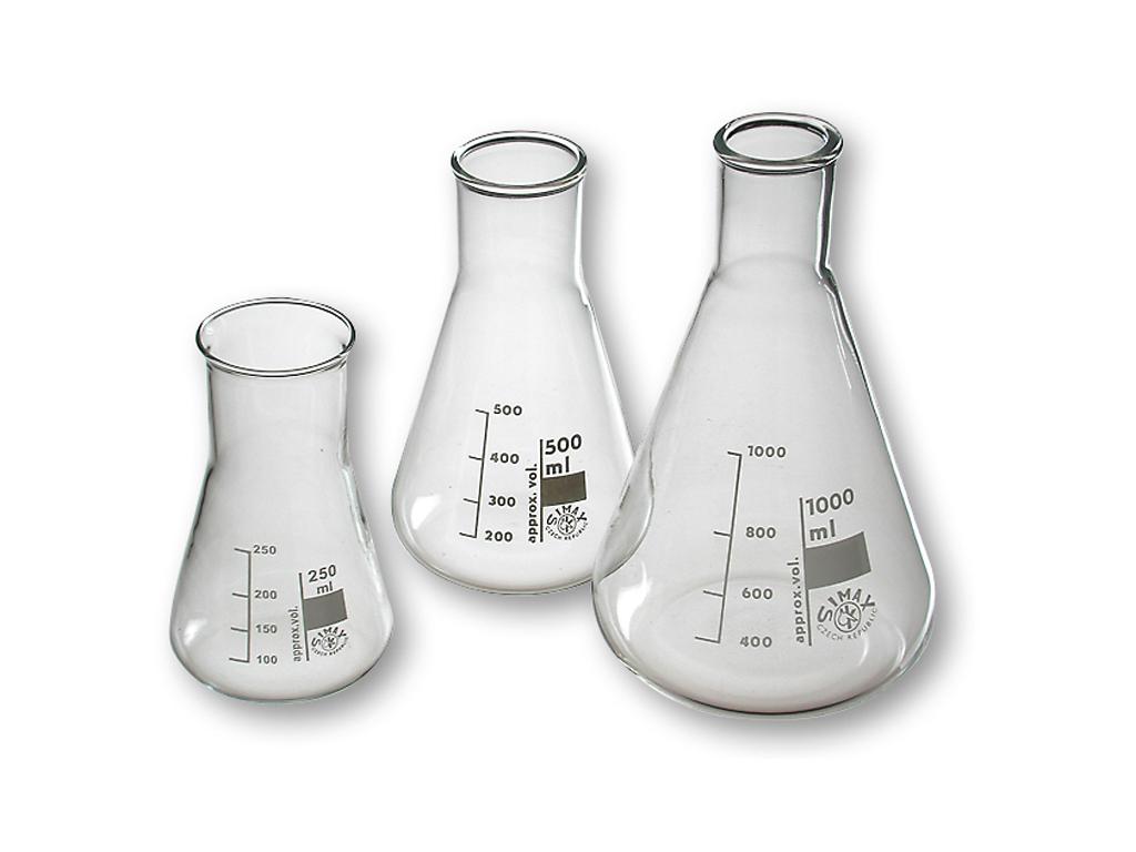 Erlenmeyerkolf glas, 2000 ml, nauwhals