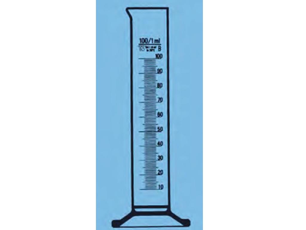 Maatcilinder glas, laag model, 500 ml