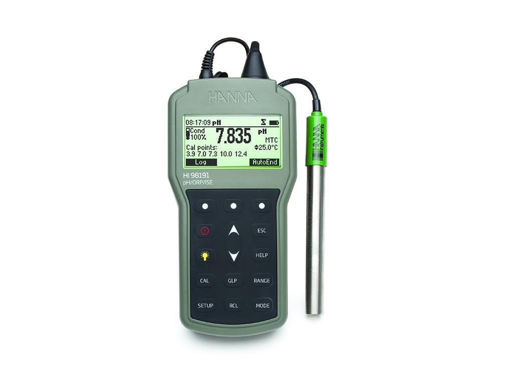 HI98191 pH/mV/ISE-meter, BNC-connectie